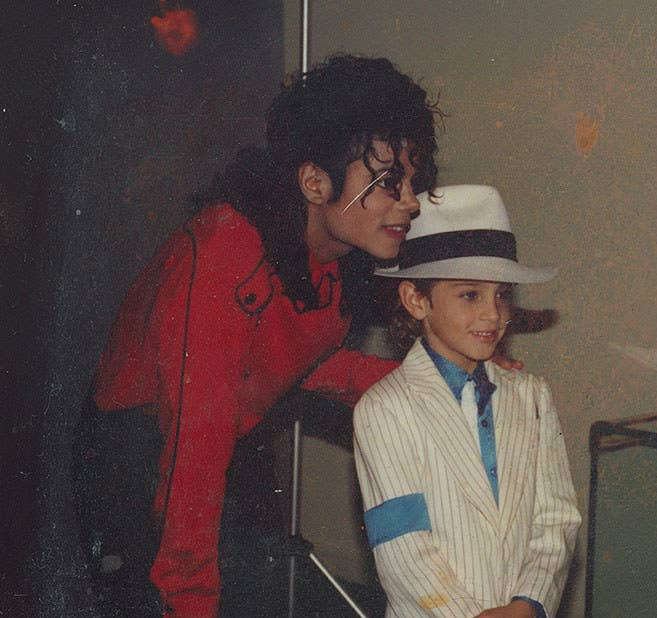 Michael Jackson and a young Wade Robson, as depicted in the documentary Leaving Neverland.