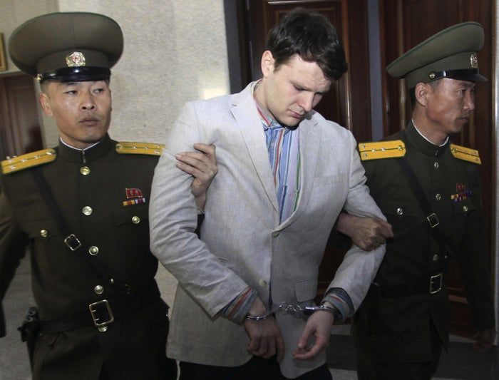 Otto Warmbier at the Supreme Court in Pyongyang, North Korea, in 2016.