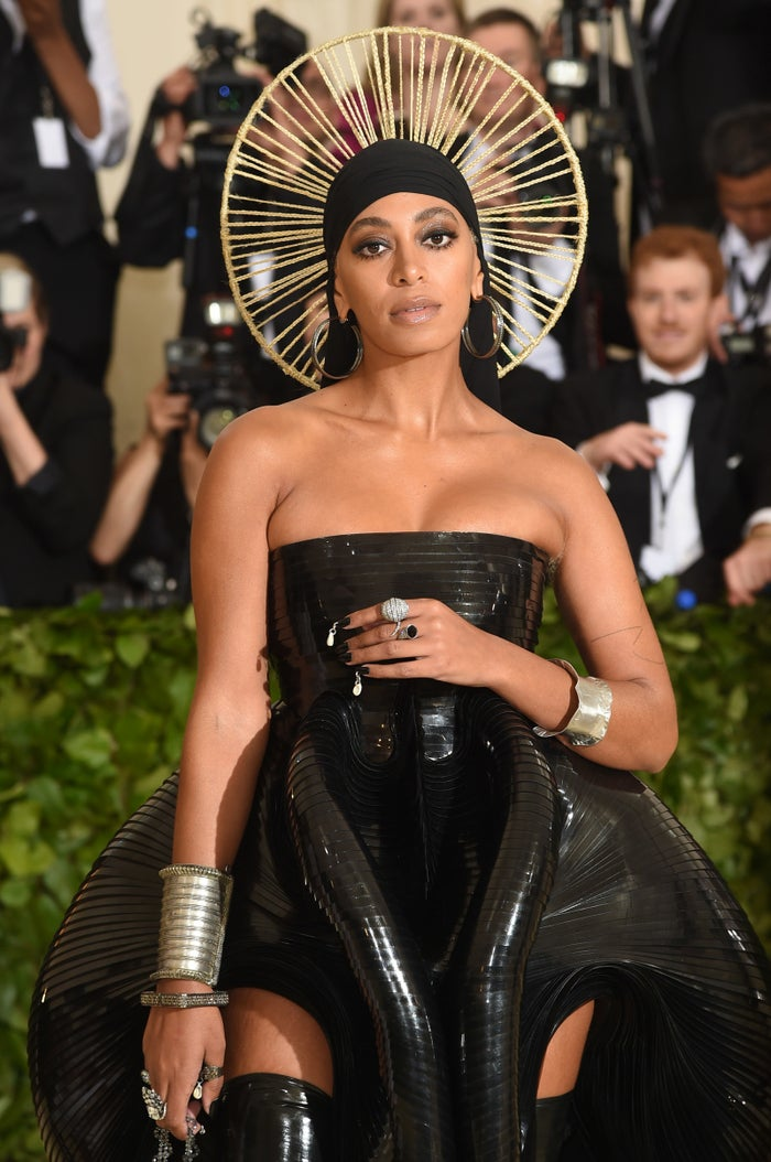 Solange Knowles attends the Met Gala, May 7, 2018, in New York City.