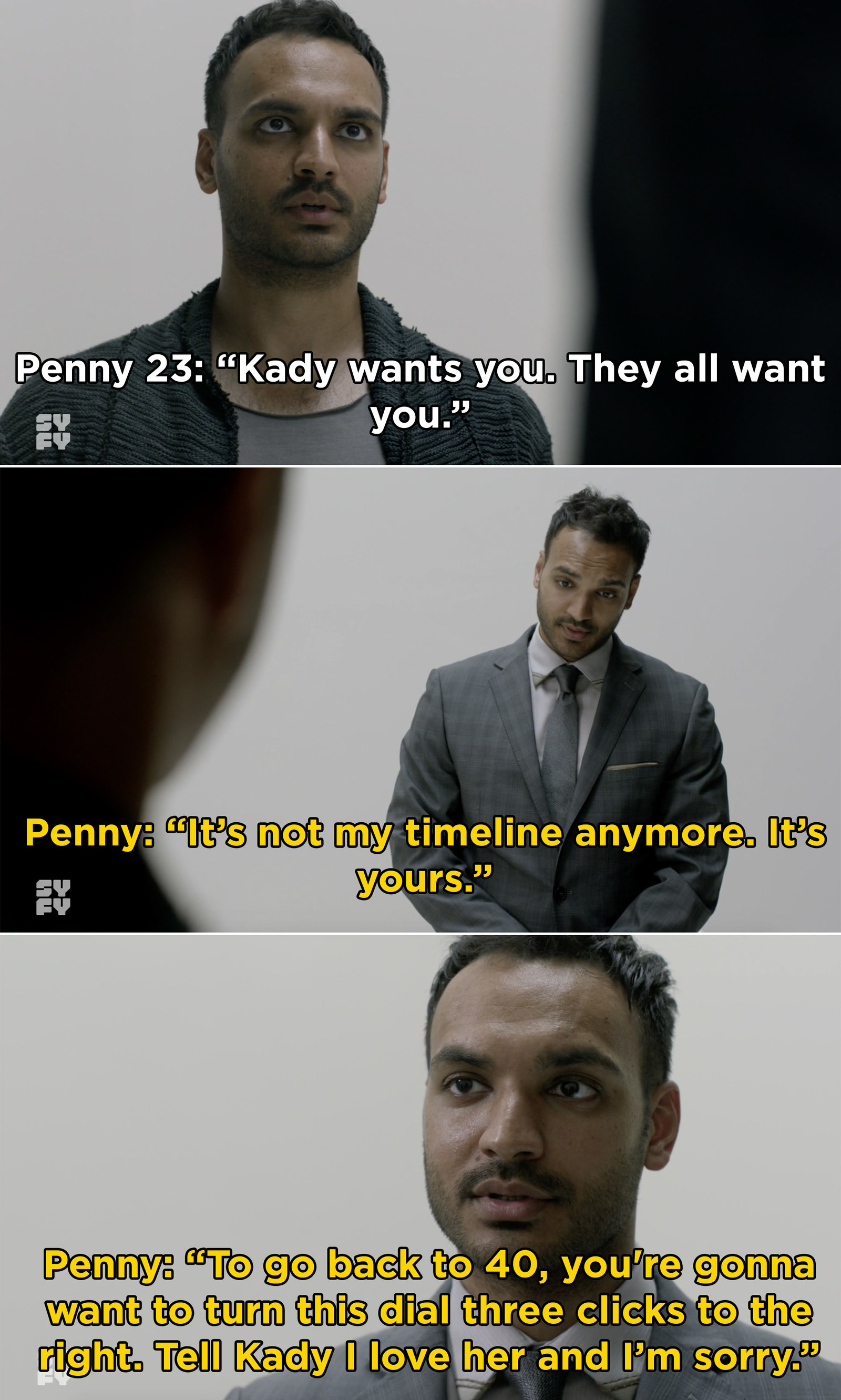 On  The Magicians , Penny 23 met our original (and dead) Penny while trying to return to our timeline. This gave us an emotional moment when original Penny gave Penny 23 a message for Kady.