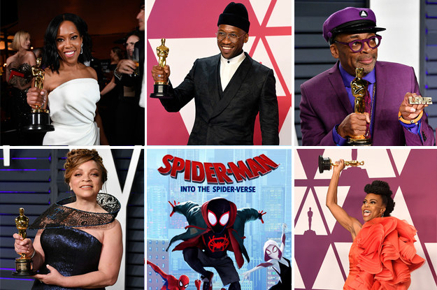And, finally, congrats to all the winners at this years Academy Awards! -  It was a night of firsts: Regina King's first Academy Award, Mahershala Ali became the first black man to win two Oscars for Best Supporting Actor, Spike Lee's first Academy Award, Ruth Carter became the first black woman to win for Production Design, and Hannah Beachler became the first black person  ever  to win for Costume Design.