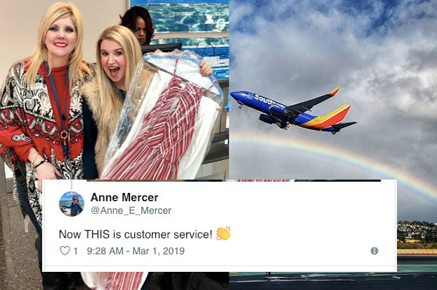 Southwest Air Really Came Through After A Bridesmaid Forgot Her Wedding Dress