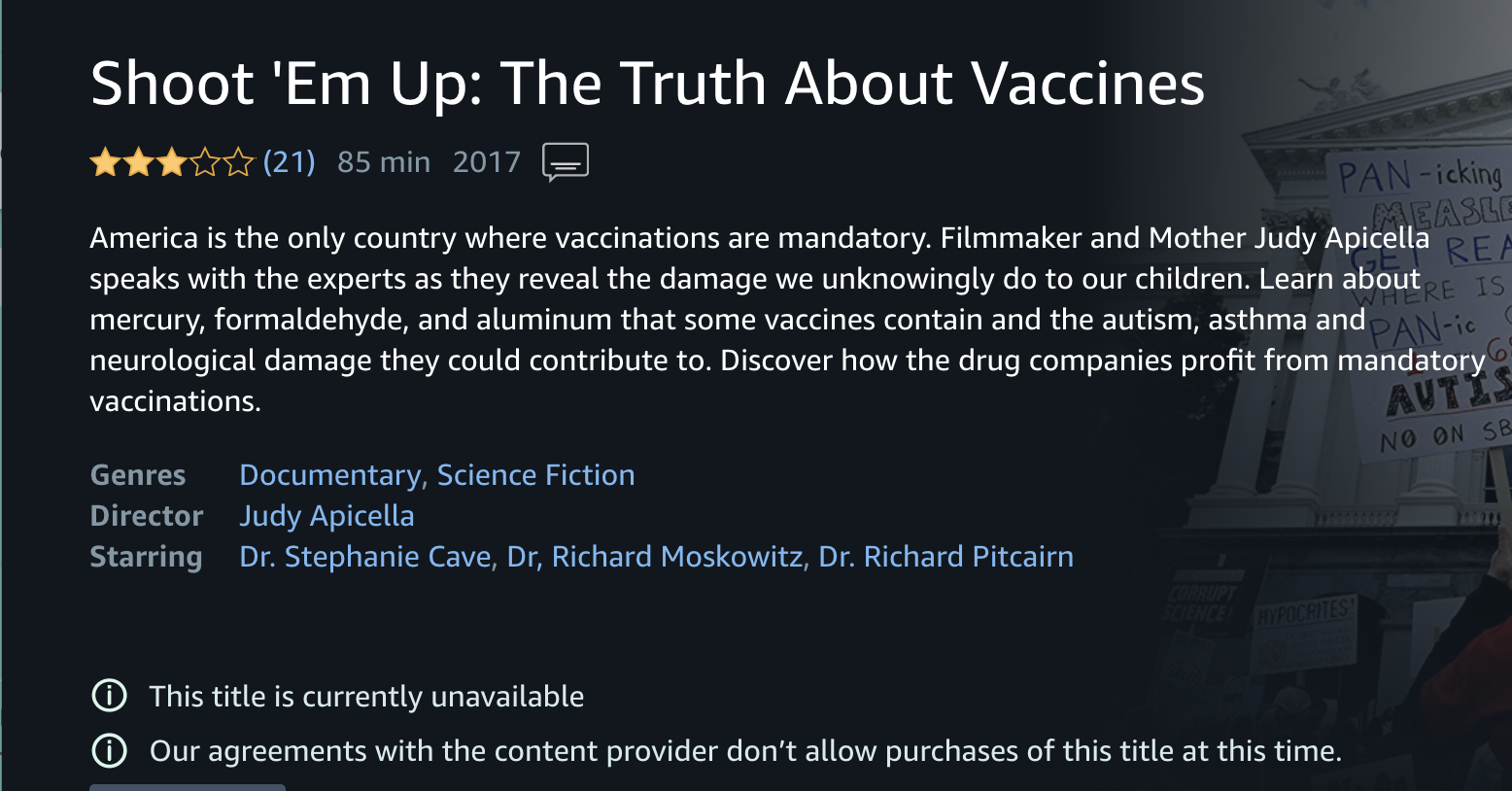 Read This Truth About Vaccines >> Amazon Removed Anti Vax Videos After An Angry Letter From Us Rep