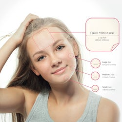 an instructional infographic displaying how to use the acne patch