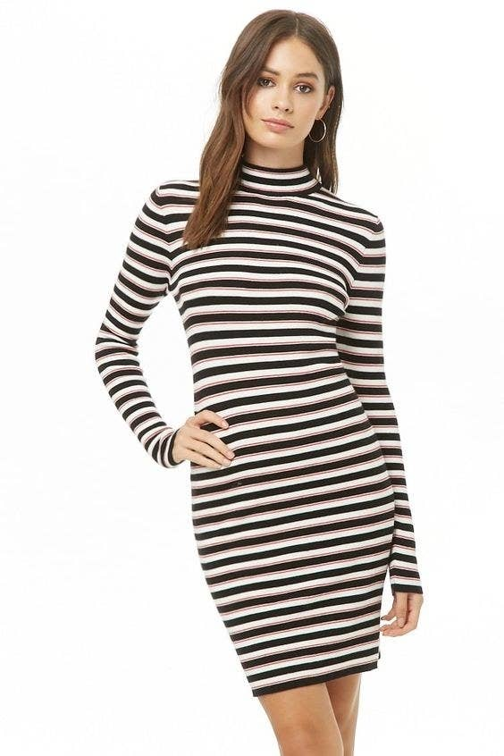 2f929819895 A striped dress to rock with sneakers and a beanie for a super cute