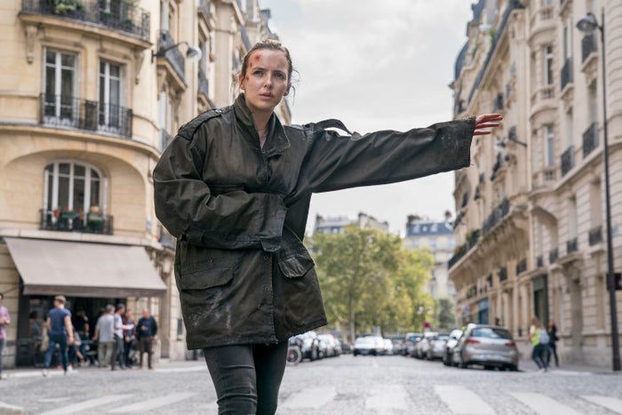 Jodie Comer in Killing Eve Season 2.