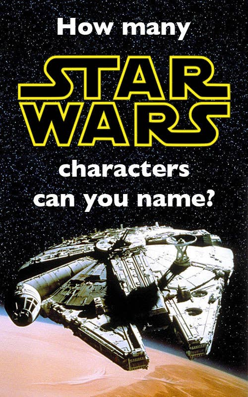 """Hello! Just an FYI, these are only characters from the current canon and don't include characters in the extended universe. Also, you don't need to type in any spaces or hyphens for droid names. You can be fancy and type in """"C-3PO,"""" or you can be lazy and type in """"c3po."""" Good luck, and may the force be with you!"""
