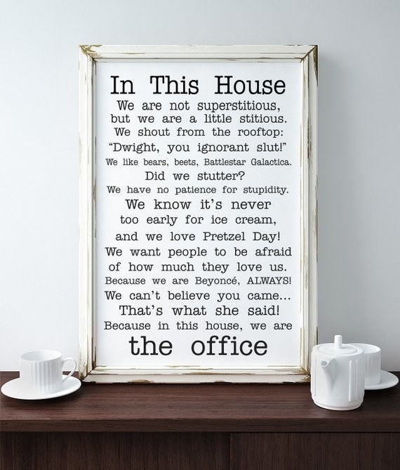 """poster with different popular sayings from """"The Office"""""""