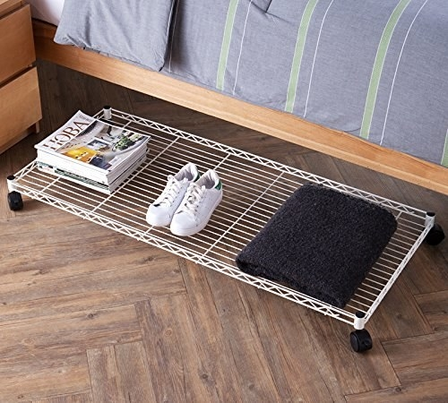 "Promising review: ""This is super convenient. I got this for my husband so he did not have to bend down and search for his shoes under the bed. This has room for more than the four or five big pairs of shoes he has on there. It's a pretty deep shelf—so he could add other things to it too. Plus, it rolls smoothly and is not too tall."" —Mama WritesGet it from Amazon for $32.79."