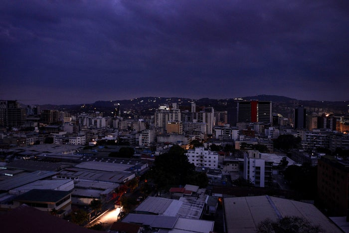 """View of the Chacao neighborhood during a power blackout in Caracas on March 7. The government of Nicolás Maduro denounced a """"sabotage"""" against the main electric power dam in the country."""