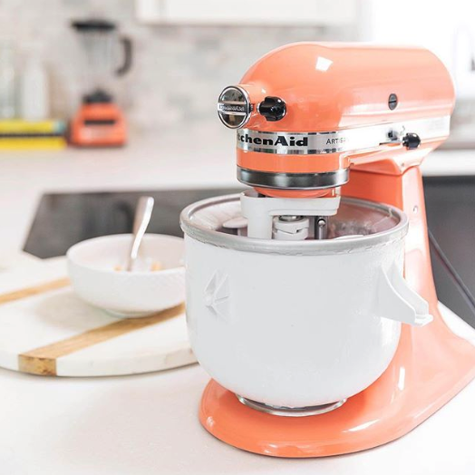 """Comes with over 10 optional hub powered attachments, from food grinders to pasta makers and more. Read our guide on why you probably need a KitchenAid Mixer for more.Promising review: """"I just received this and the color is incredible. My kitchen is 1960s retro and this looks wonderful on my Formica counter. It runs like a dream. I made two cakes already and they came out so nice and light and fluffy!"""" —MarionpasadenaGet it from Walmart for $379.99 (available in 36 colors)."""