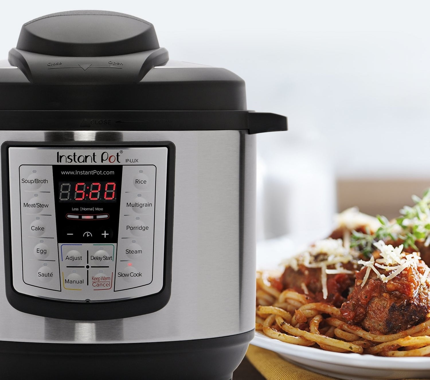 "This combines six kitchen appliances in one — pressure cooker, slow cooker, rice cooker, sauté, steamer, and warmer. It can prepare food up to 70% faster. It can keep food warm automatically for up to 10 hours, and there are three temperatures for sauté and slow-cook. The inner cooking pot, lid, and steam-rack are dishwasher-safe!Promising review: ""This is probably the only kitchen appliance I've ever bought that has earned permanent status on my kitchen counter. I use it at least three times a week. It's particularly perfect for vegans and WFPB-eaters. I can cook beans and grains from scratch in no time! Such a wonderful investment. I liked it so much that I got one for each of my sisters for the holidays. Best. Thing. Ever."" —cynthia w. rogersPrice: $58.75+ (available in three sizes)Check out our review of the incredible Instant Pot!"