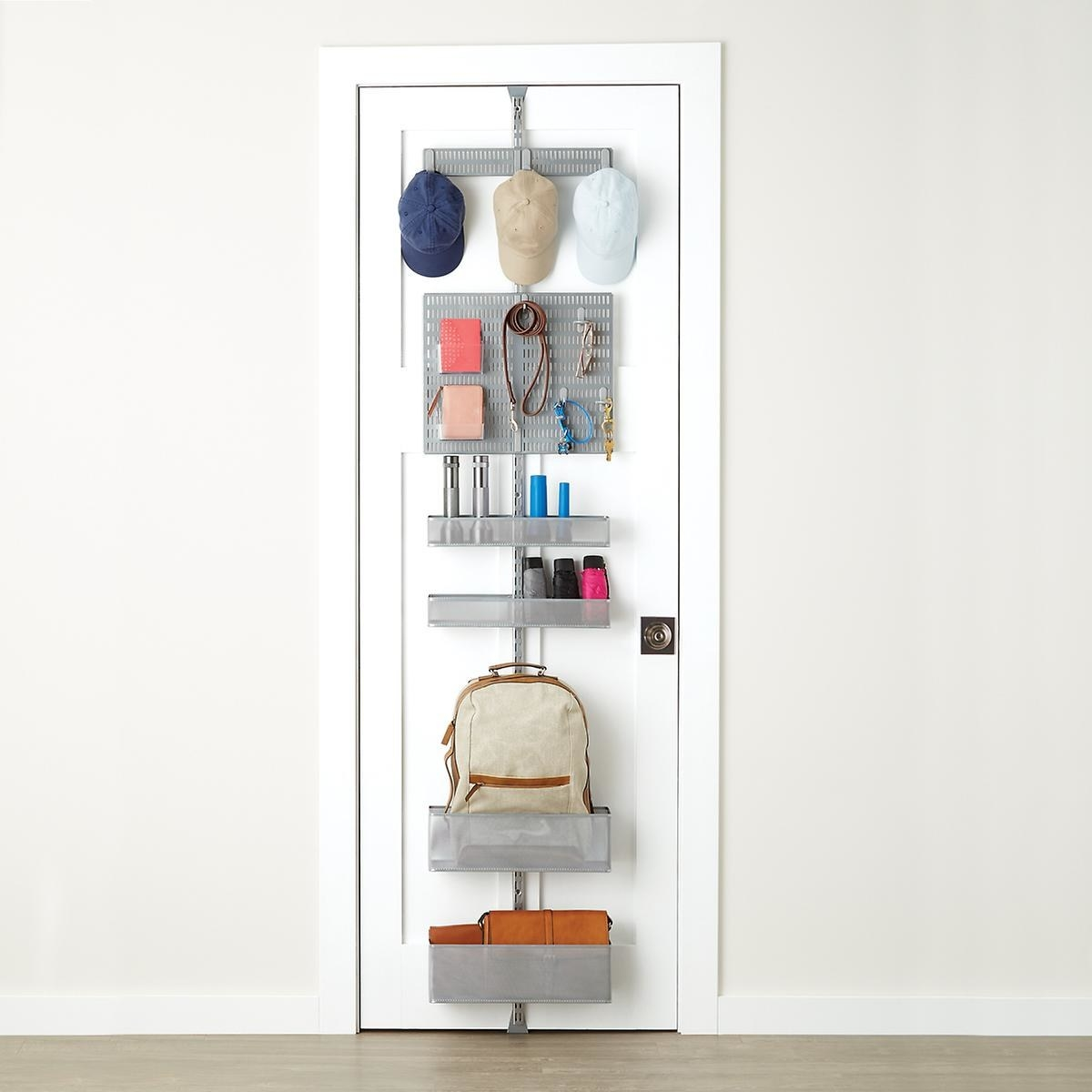 This organizer is built for 7-foot doors and both baskets and hooks are included!Get it from The Container Store for $116.20 (originally $155).