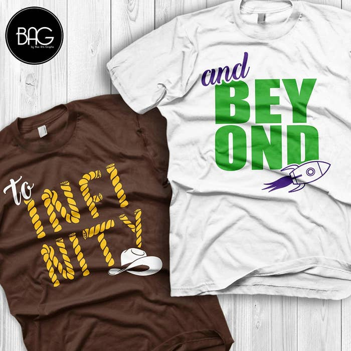 b2a0ae992 Matching shirts for the Woody to your Buzz you'll want to wear ~to infinity  and beyond~.