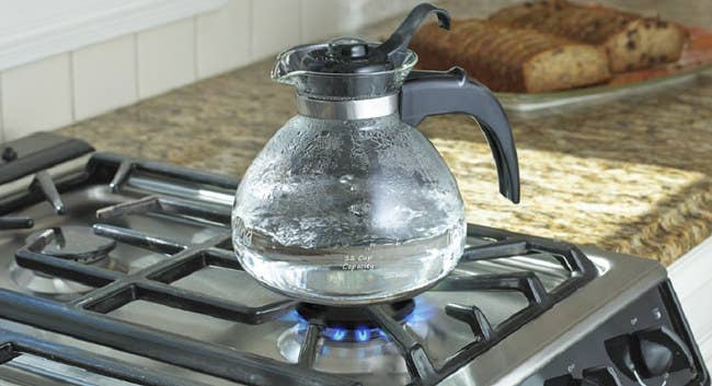 """The 12-cup kettle is made of thermal-shock-resistant borosilicate glass and the removable lid is BPA-free. The kettle is also dishwasher-safe.Promising review:""""I've had this kettle almost a year now and it works great. It's easy to clean and I like that it whistles."""" —Amazon CustomerGet it from Amazon for$14.99."""