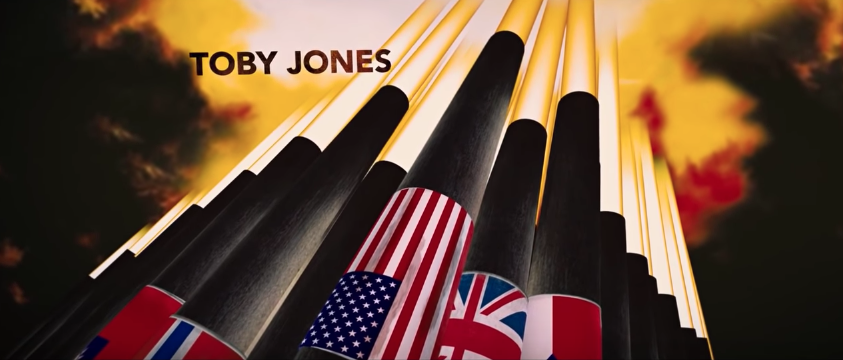 In the credits, there is a photo of a flag wrapped around a cannon. This flag has 50 stars. However, during WWII, Hawaii and Alaska had not become states yet. Hawaii and Alaska were both added in 1959, therefore WWII-era flags had 48 stars instead of 50.
