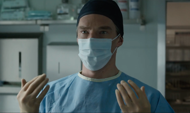 You'd think as a neurosurgeon, Doctor Strange would know to put his mask on before washing his hands. However, in his first scene of the movie, he does the exact opposite, contaminating his hands before starting surgery.