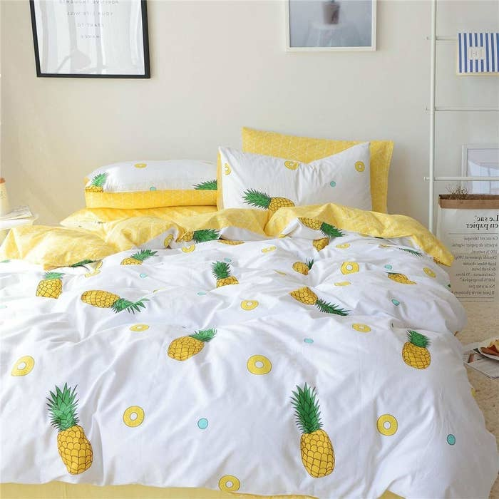 Includes a duvet cover and two pillow cases. Get them from Amazon for $48.99+ (available in 10 colors and three sizes).