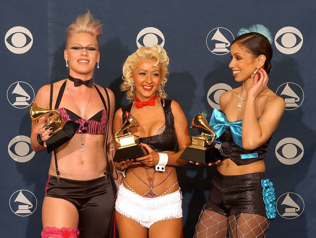Xtina and the lady marmalade girls with grammys