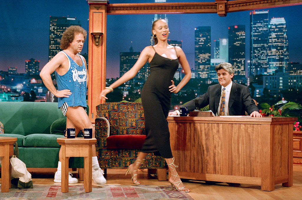 With fellow guest Richard Simmons on The Tonight Show With Jay Leno