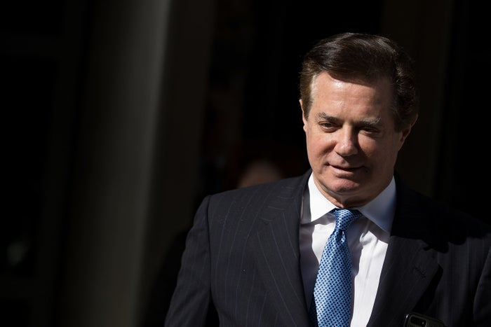 Paul Manafort leaves the federal courthouse in Washington, DC, on Feb. 28, 2018.