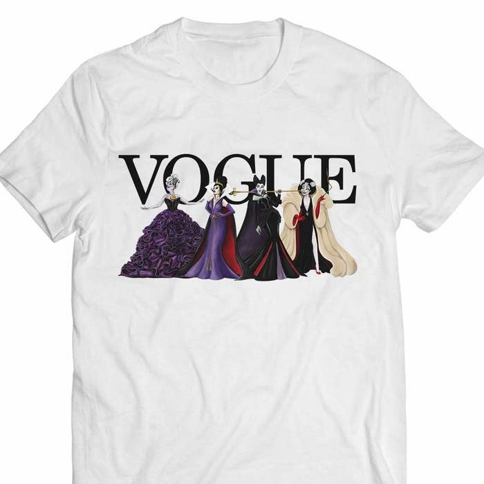 bc7ca036b64 Or a shirt that shows what the fabulous Disney Villains would look like if  they were to ever grace the cover of Vogue.