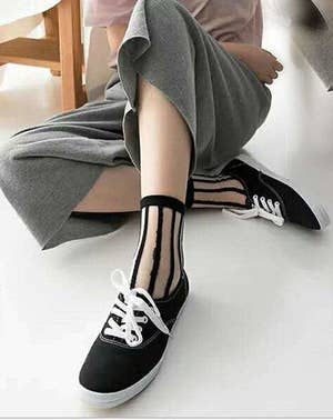a2e9cc74e922d A set of sheer socks to wear with sneakers/heels/loafers so you can stay  comfortable (no fabric rubbing against your bare ankles) and stylish (no  other ...