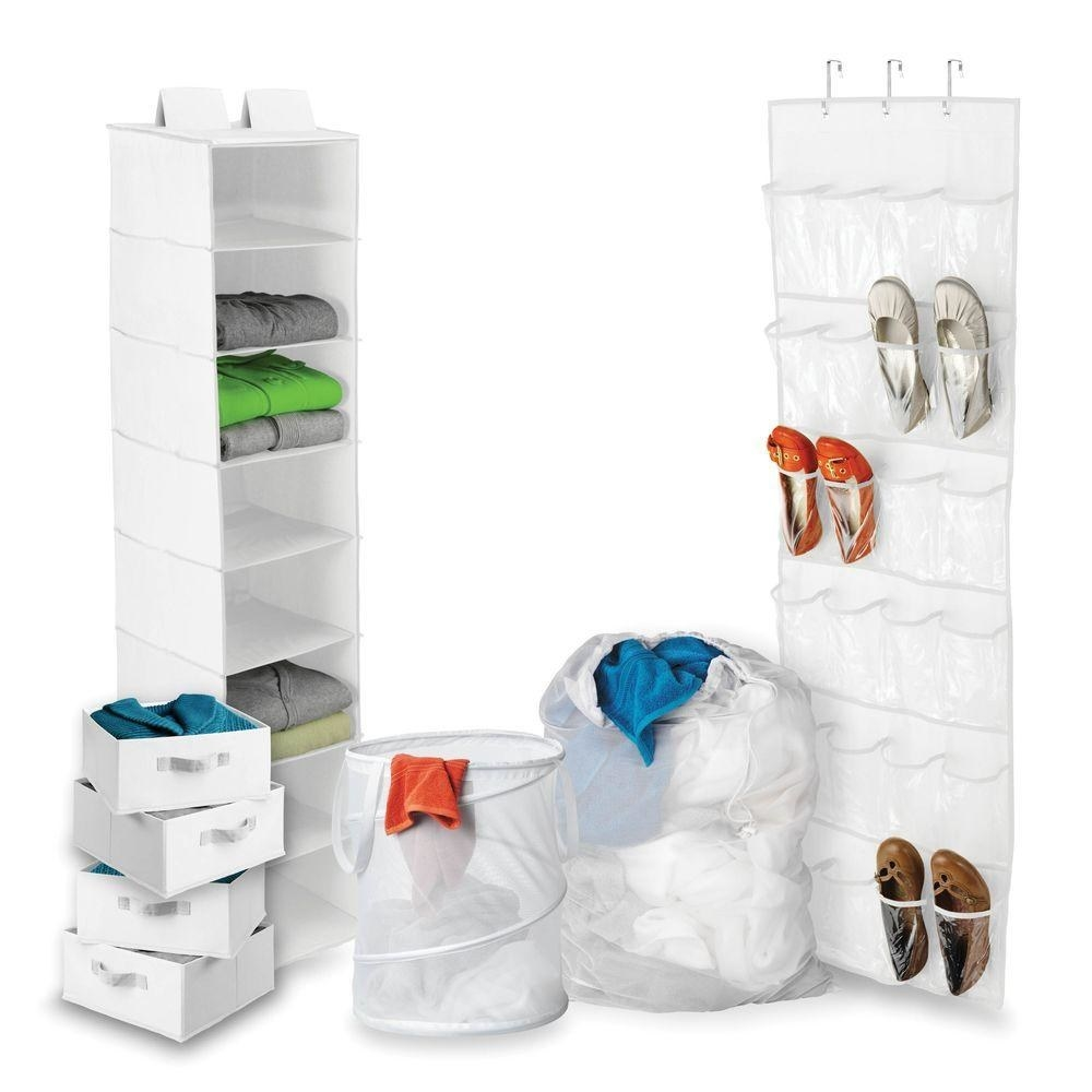 """Promising review: """"The closet storage and laundry kit is great for college, but also for anyone who needs more storage. We have a guest room with occasional guests who stay for a weekend or longer. We use this set for them, but when we don't have guests, we do not need the extra storage. This set collapses up nicely and can be put to the side when not needed. It's well worth it."""" —JdadGet it from The Home Depot for $62.47."""