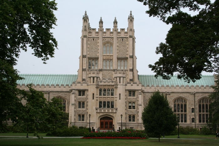 The Thompson Memorial Library at Vassar College in Poughkeepsie, New York.