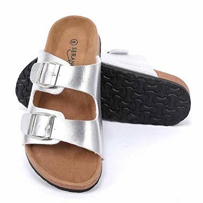 8b94782de10 A slip-on sandal you can throw on when you re running out the door (yay for  minimal effort!) and still know you re looking hot