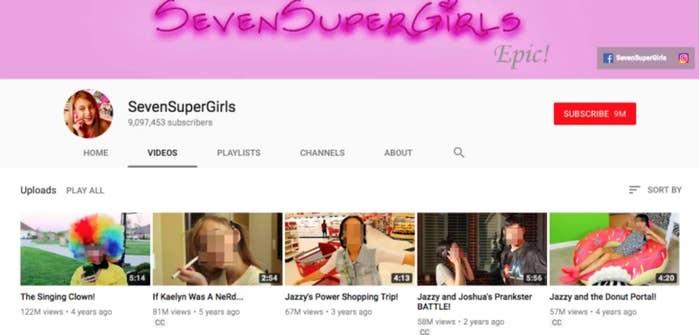 Youtube Shut Down The Tween Channel Sevensupergirls After Its