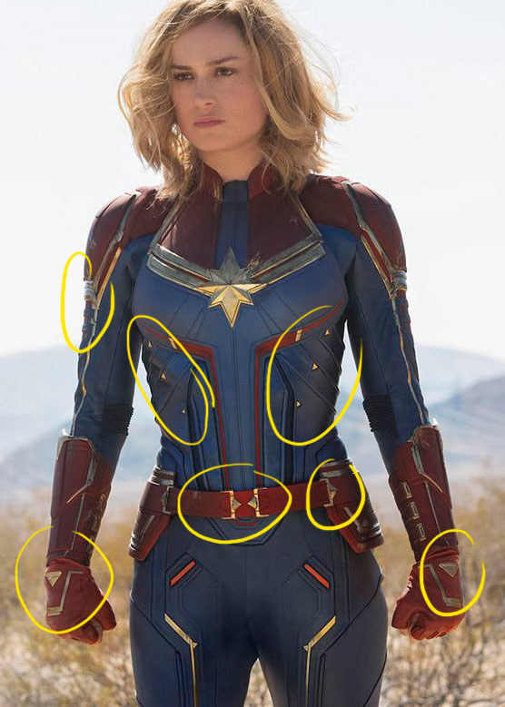 21 Secrets About The Captain Marvel Costumes That Will Make You Say Wait That S Really Cool Superhero captain soldier costume deluxe halloween cosplay full set pu suit. captain marvel costumes