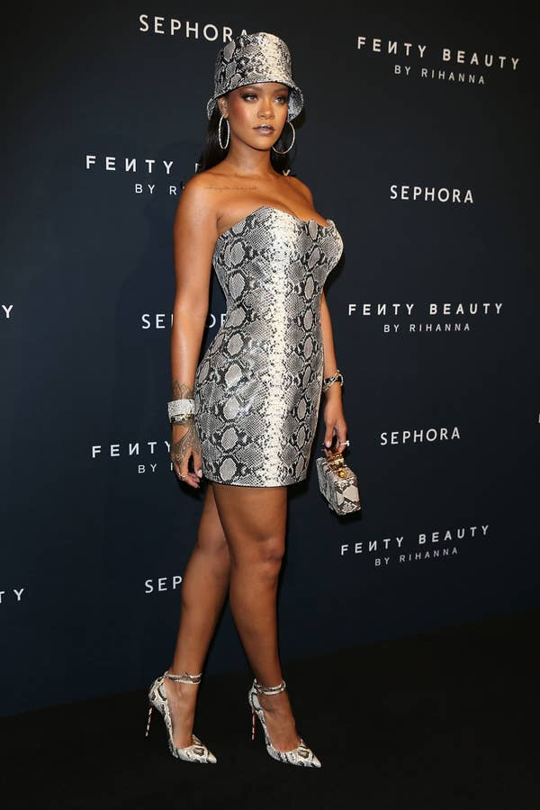 at a fenty launch party