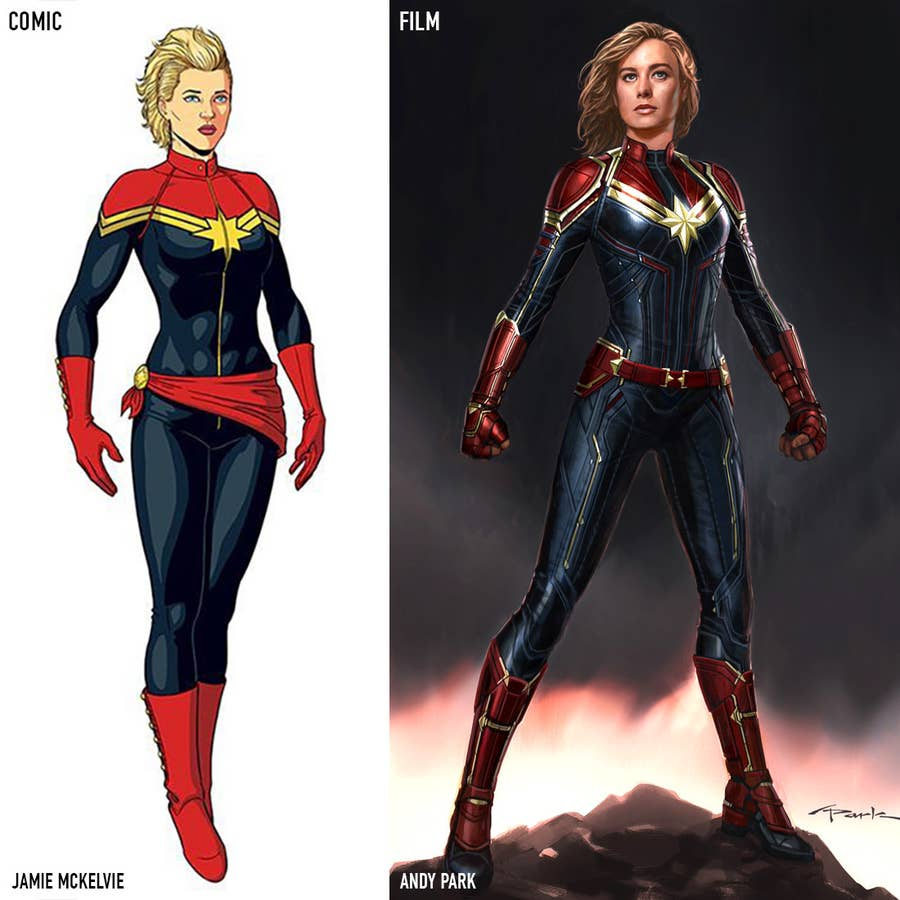 21 Secrets About The Captain Marvel Costumes That Will Make You Say Wait That S Really Cool This original captain marvel cosplay costume is comprised of a full cover round neck blue and red spandex leather jumpsuit with gold seam detailing. captain marvel costumes