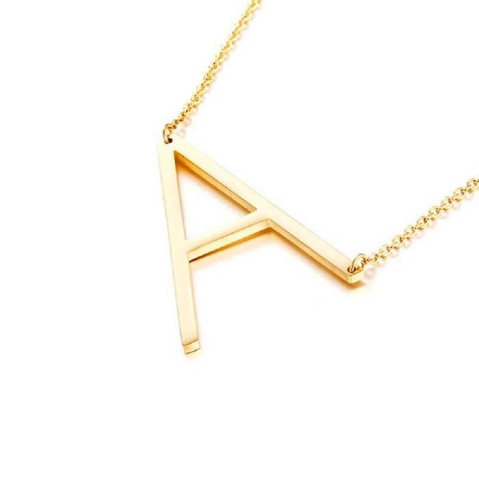 """Promising review: """"I was skeptical about the price at first, but I received the necklace fast and when I got it it was just what I had imagined! Very pretty!!!"""" —QueenscPrice: $7.99 (available in 26 letters)"""