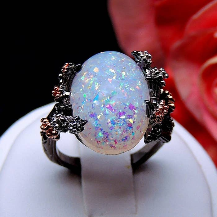"""Promising review: """"This ring is beyond beautiful, I have gotten more compliments on this ring than I have on my very expensive jewelry. The pictures don't show how truly beautiful and unique this ring is!!"""" —CandiPrice: $9.99 (available in sizes 5-12)"""