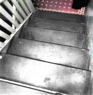 The stairs in the Bondi property.