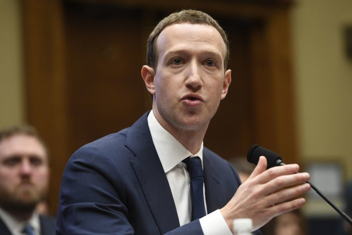 Facebook CEO Mark Zuckerberg testifies during a US House Committee on Energy and Commerce hearing about Facebook in Washington, DC, on April 11, 2018.