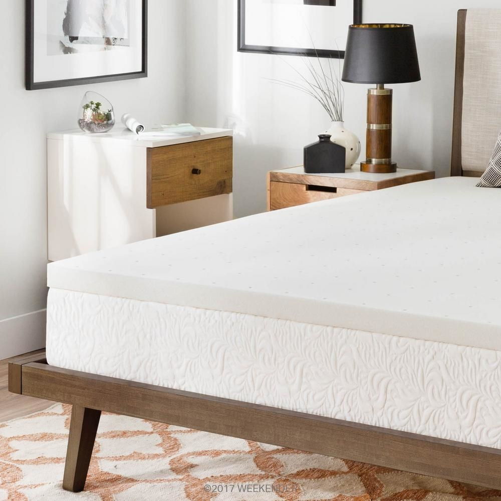 """Promising review: """"Talk about extending the life of an old mattress and bringing back the comfort that had been lost!! This mattress topper totally exceeded our expectations! A good friend had recommended it to us. What we found out was that we slept extremely comfortably on it, saved a ton of money, but didn't sacrifice quality! This is a top notch mattress topper! We thoroughly enjoyed this mattress topper and hardly felt each other during the night. That is super important to me as I am a light sleeper. If you want a high quality mattress topper for an excellent price...look no further!"""" —Home Depot CustomerPrice: $54.53+ (originally $68.17, available in sizes twin—Cal king)"""