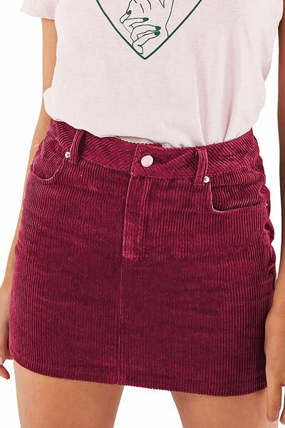 f5e5b21e5e A soft mini skirt you can dress up or down and that's fit for cordu-royalty.