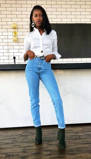 1b26da53b584f6 Ruisin jeans are made of thick denim that'll fit perfectly snug in the hips  but still have that overall vintage feel. You can wear these with anything!