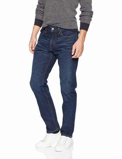 7c3e82c6ee9c5 Amazon Essentials denim stretches just enough to feel comfortable but will  also retain its shape over time. Plus they have a ton of styles to choose  from!