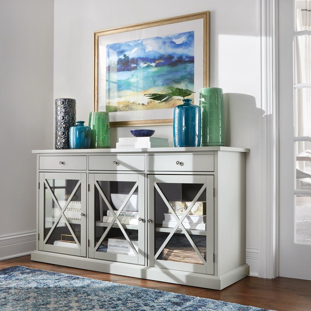 """Promising review: """"It is a perfect piece to display your China collection and that is why we got this one. At first I was a little nervous upon seeing that it came in so many pieces; I thought it was going to be cheaply made, but is made of solid wood and MDF. After putting it together (it took me about two hours to assemble it by myself), I couldn't be happier with this product. The color is perfect! Shiny, but not too shiny and it is super sturdy! Everything opens and closes smoothly without any binding to the furniture frame, and it looks great. I would not hesitate to recommend this product to my friends and families."""" —frljo1Price: $374.25 (originally $499, available in two colors)"""