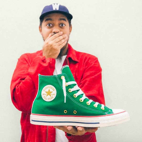 """There are also lots and lots of ~special~ styles that drop throughout the year, like these that were from a collab with Ray Palonco Jr. for Hispanic Heritage Month (and are now sadly sold out). But if collabs like that appeal to you, check out the official Converse site for availability. If you're into the go-tos at a cheaper price, Amazon has what you need. Promising review: """"Very stylish shoe. I opted to purchase them online because I found that they tended to be a few dollars cheaper and were prime eligible. I would recommend to find your fit beforehand in a store, and then proceed to order online off of Amazon. My last pair lasted for around two years with everyday use, which is very good IMO. I am quite happy with this purchase."""" —BobGet them from Amazon: high tops for $33.39+ (25 color combos, men's sizes 4–18) or low tops for $33.52+ (nine color combos, men's sizes 3.5–16)And check out our picks for the best everyday sneakers on BuzzFeed Reviews!"""