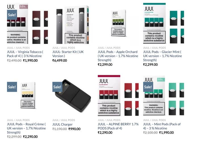 Wealthy Vapers In India Are Buying Juul Kits For $100 On The