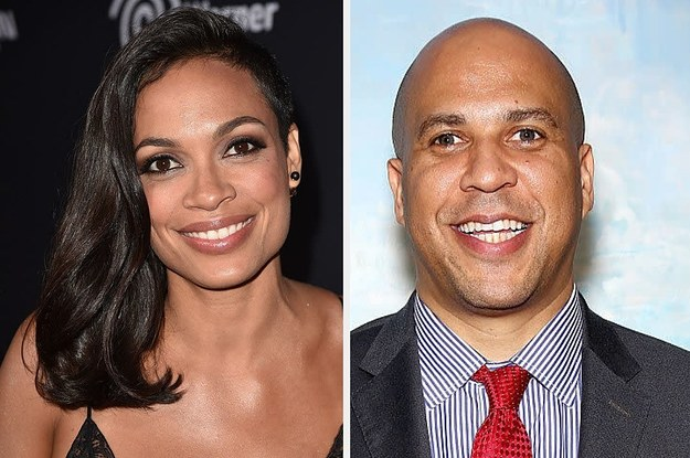 Rosario Dawson And Cory Booker Are Not Just Dating They Re Madly