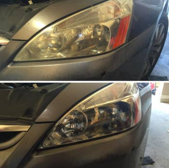 "Promising review: ""I have to admit I was a little doubtful on how this product would do. However, after some research I gave in and purchased it. I have to say this does a GREAT JOB. I applied the product to my '06 Honda Accord headlights and they simply look like new again. If you are looking to show a little TLC and restore your vehicle's headlights, you won't be disappointed with this product. Just follow the simple instructions or play the video linked to this item. It's that simple. On a side note, I also had enough product to do and finish out my truck's headlights as well!!! I don't know who else has been able to do this but I did two vehicles (two sets of headlights) instead of just one!"" —jaxsdamaxGet it from Amazon for $19.99."