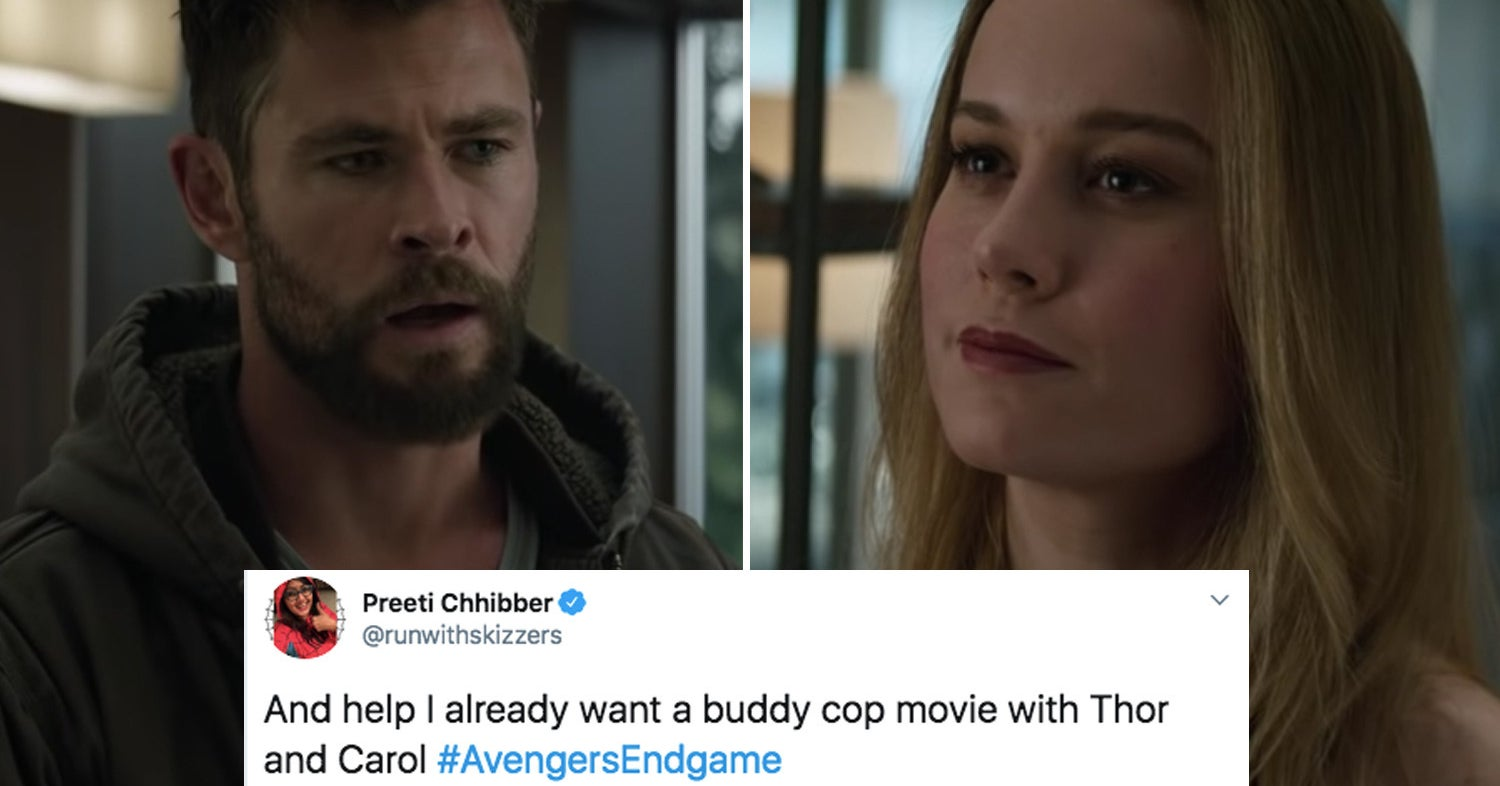 "Carol And Thor Finally Meet In The New ""Avengers: Endgame"" Trailer And Fans Are Hype As Heck"