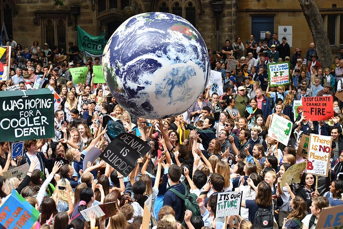 The 60 rallies throughout the country are part of the Global Climate Strike movement, with students from around the world holding protests on the same day.