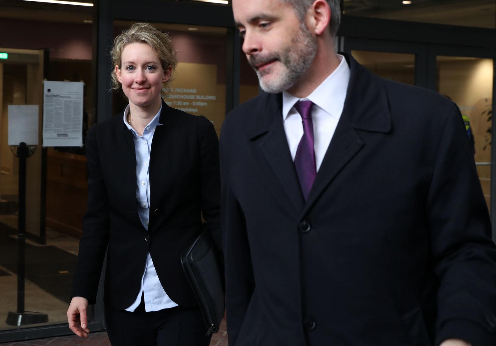 Elizabeth Holmes leaving the Robert F. Peckham U.S. Federal Court in San Jose, CA on January 14, 2019
